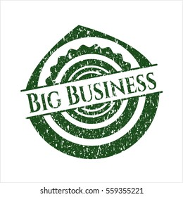 Green Big Business distressed rubber stamp