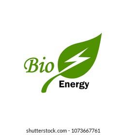 green bio energy electric logo icon vector template