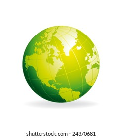 Green bio globe vector illustration