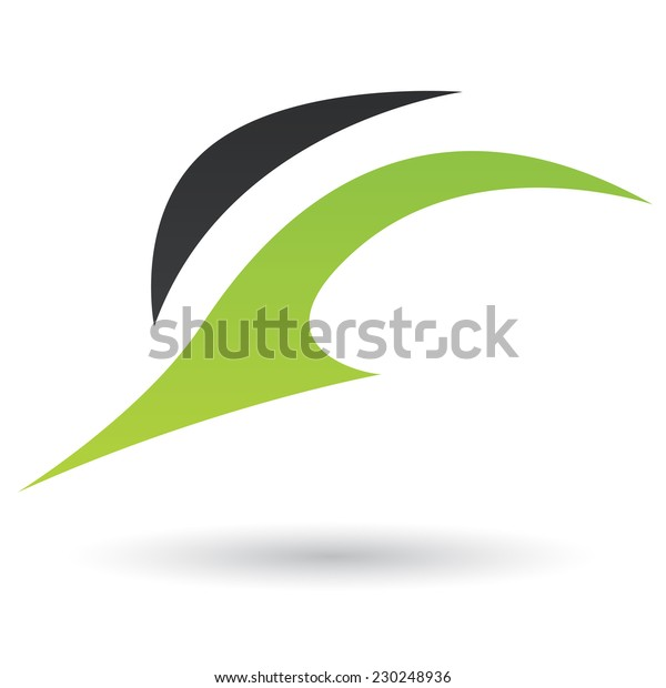 Green Black Abstract Icon Illustration Isolated Stock Vector
