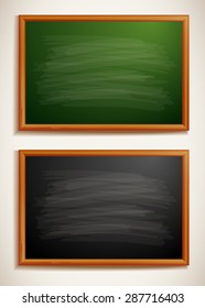 Green and black blackboard