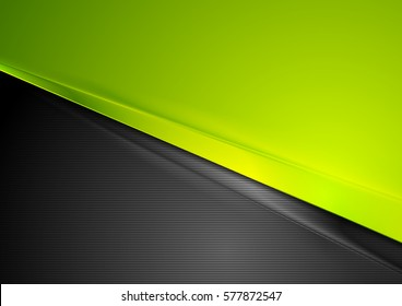 Green and black contrast striped abstraction vector background