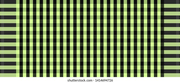 Green and black loincloth vector and illustration. checkers table. Abstract background.