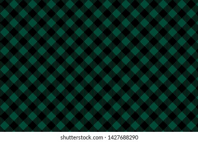 Green Black Lumberjack plaid seamless pattern. Texture for plaid, tablecloths, clothes, shirts, dresses, paper, bedding, blankets, quilts and other textile products. Vector EPS 10