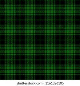 Green And Black Lumberjack Tartan Plaid Cloth Texture Pattern