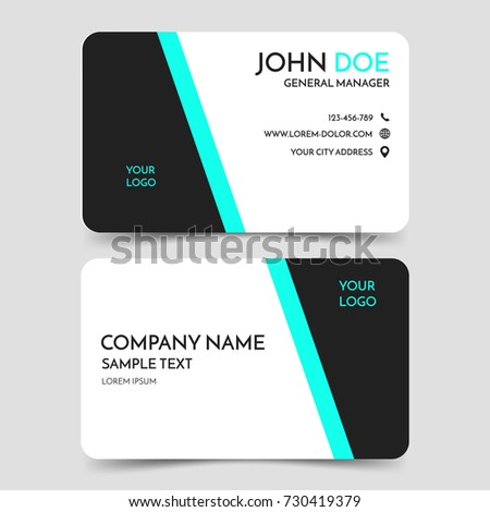 Green black modern business card template stock vector royalty free green and black modern business card template vector minimal corporate identity card design eps10 wajeb Gallery
