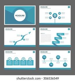 Green and black multipurpose presentation template flat design set for brochure flyer marketing and advertising