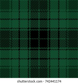 Green and Black Scottish Woven Tartan Plaid Seamless Pattern