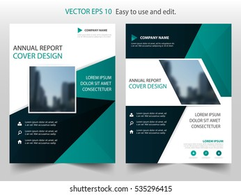 Green black Vector annual report Leaflet Brochure Flyer template design, book cover layout design, abstract business presentation a4 size design