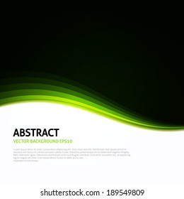 Green | Black | White Abstract Curves Background