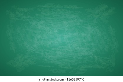 Green blackboard. Design rubbed out dirty chalkboard. Background vector illustration