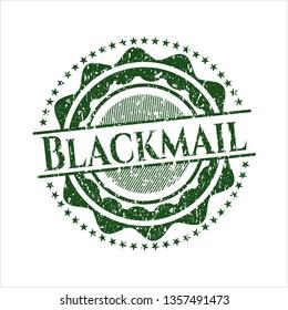 Green Blackmail distress rubber seal