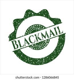 Green Blackmail grunge seal
