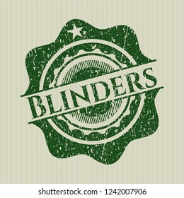 Green Blinders rubber seal with grunge texture