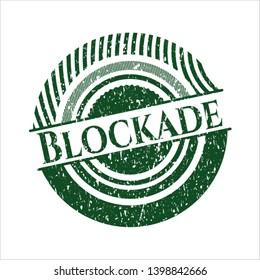 Green Blockade distress rubber grunge seal