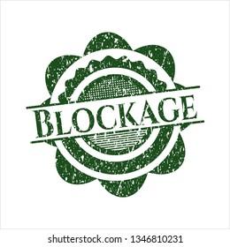 Green Blockage distress rubber seal