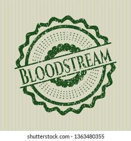 Green Bloodstream grunge style stamp