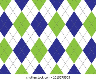 Green and Blue Argyle Background