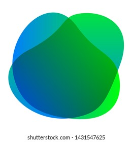 green blue colors shape free from, blob flat geometric simple, liquid stain brush flat blob for label ad copy space, fluid spot template for graphic, simple banner colored gradient wave blob green