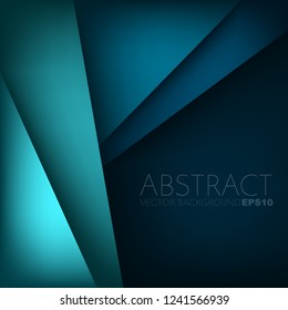 Green and blue layer vector background overlap