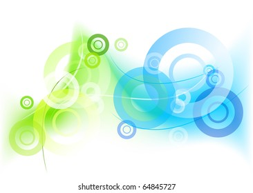 green and blue mystic background