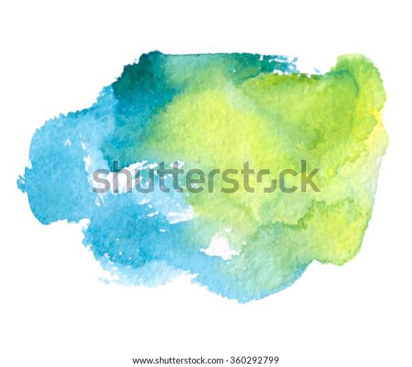 Green Blue Watercolor Paper Grain Texture Stock Vector