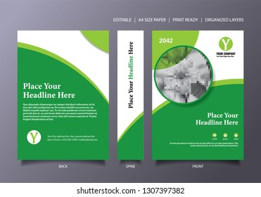 Green Book Cover Template