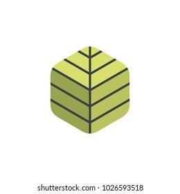 Green box logo design