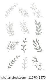 Green branch vector illustration