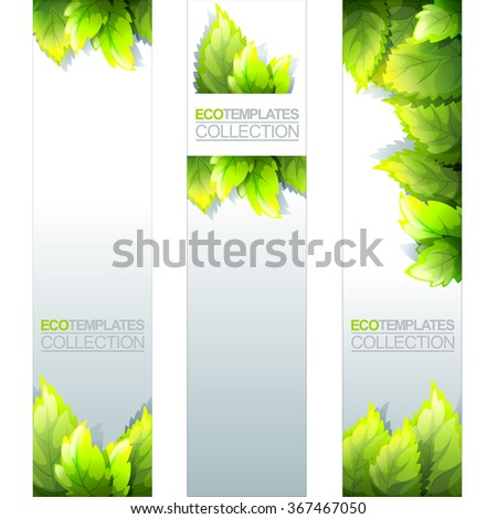 Green Bright Editable Template Eco Natural Stock Vector (Royalty ...