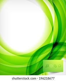Green bright vector wave design