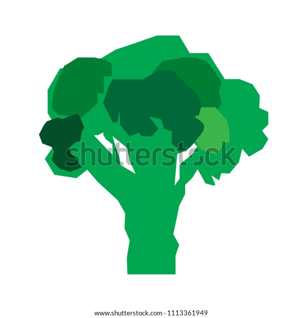 green broccoli vector illustration flat cartoon stock vector royalty free 1113361949 shutterstock