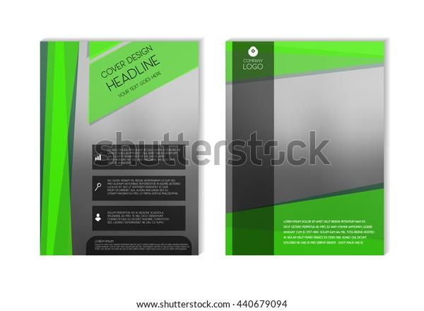 Green Brochure Design Template, Brochure Template, Brochure Mockup