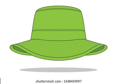 Green Bucket Hat : Jungle Hat