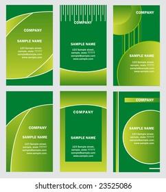 green business card template set