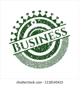 Green Business distressed rubber grunge seal