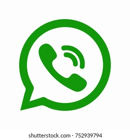 Green button in the smart phone. Green button icon vector.