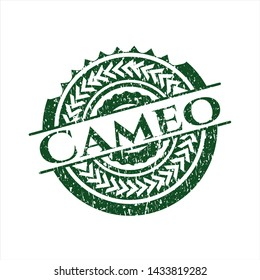 Green Cameo distress rubber grunge stamp