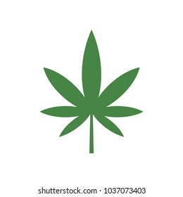 green cannabis vector icon, marijuana icon
