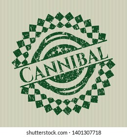 Green Cannibal distress grunge style stamp