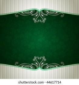green card with shamrock, vector illustration