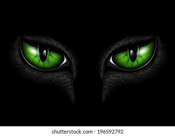 green cat's eyes