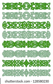 Green celtic ornament elements for embellishments and design. Jpeg version also available in gallery