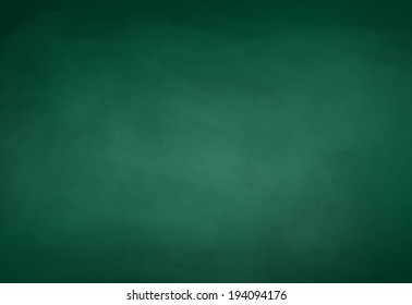 Green chalkboard background. Vector illustration.