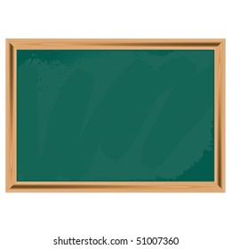 Green chalkboard isolated over white square background