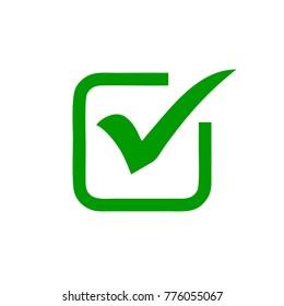 green check mark in box symbol