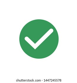 Green check mark icon symbol template color editable vector sign isolated on white background illustration for graphic and web design.
