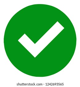 Green check mark icon vector isolated.