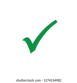 Green check mark icon. Vector Illustration