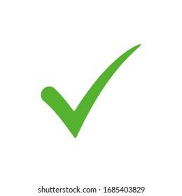 Green check mark icon vector design